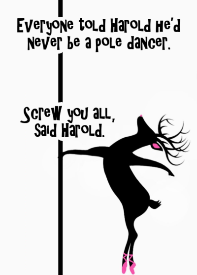 Ungraceful pole dance
