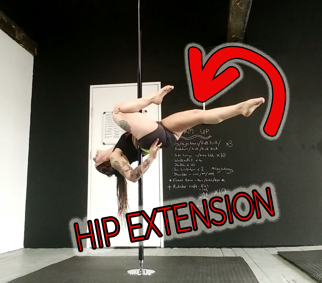 Hip flexibility pole dance