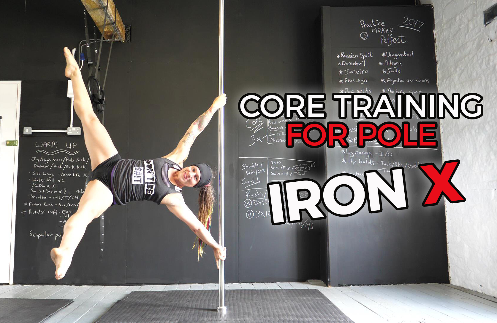Core training for pole dancers (Part 3: Iron X fundamentals)