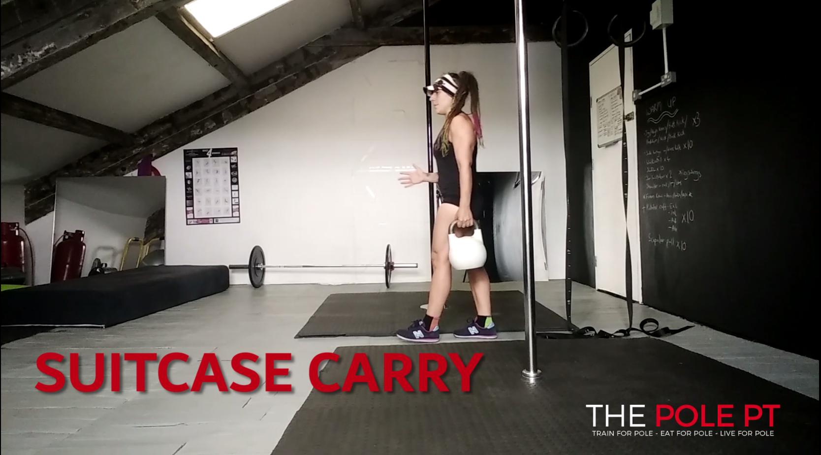 human flag pole core training