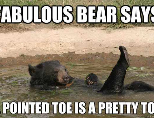 I AM pointing my damn toes!