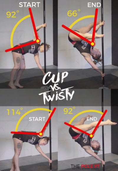 Twisted grip handspring strength