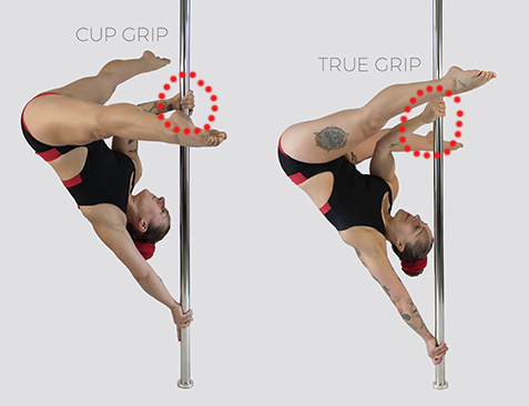 Pole dance handspring