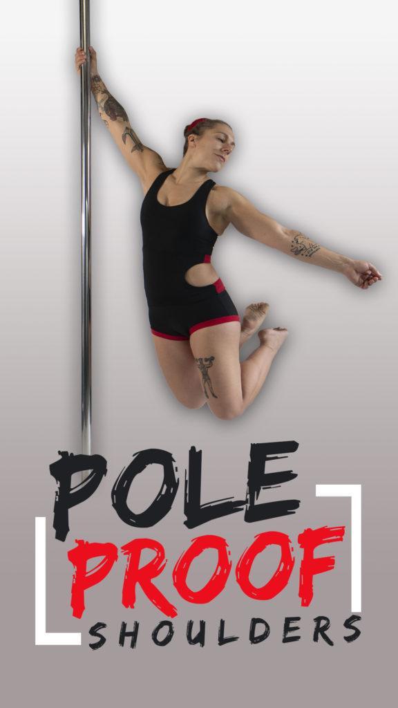 Pole dance shoulder exercises