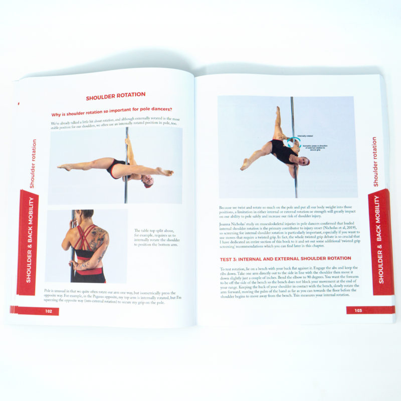 pole dance tabletop split