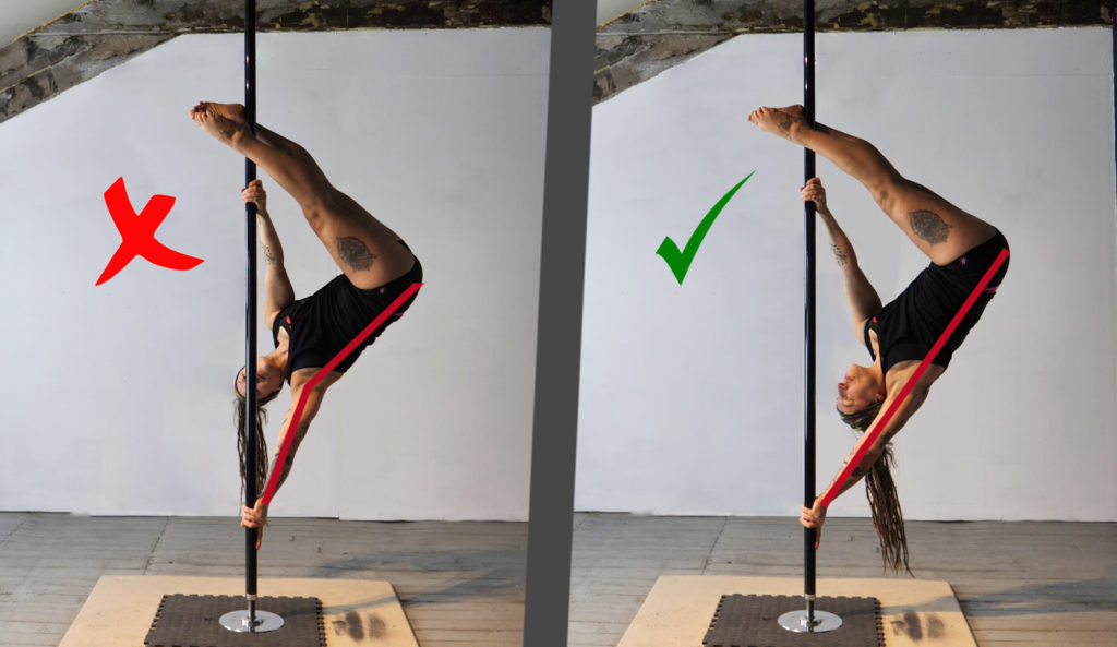 Pole dance inverted D