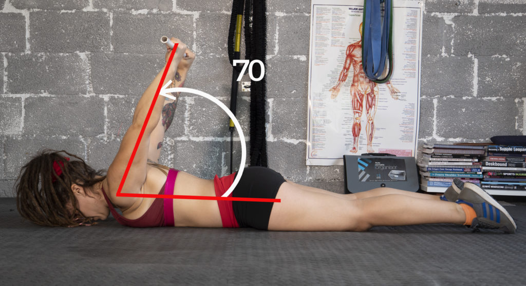 Pole dancer shoulder mobility