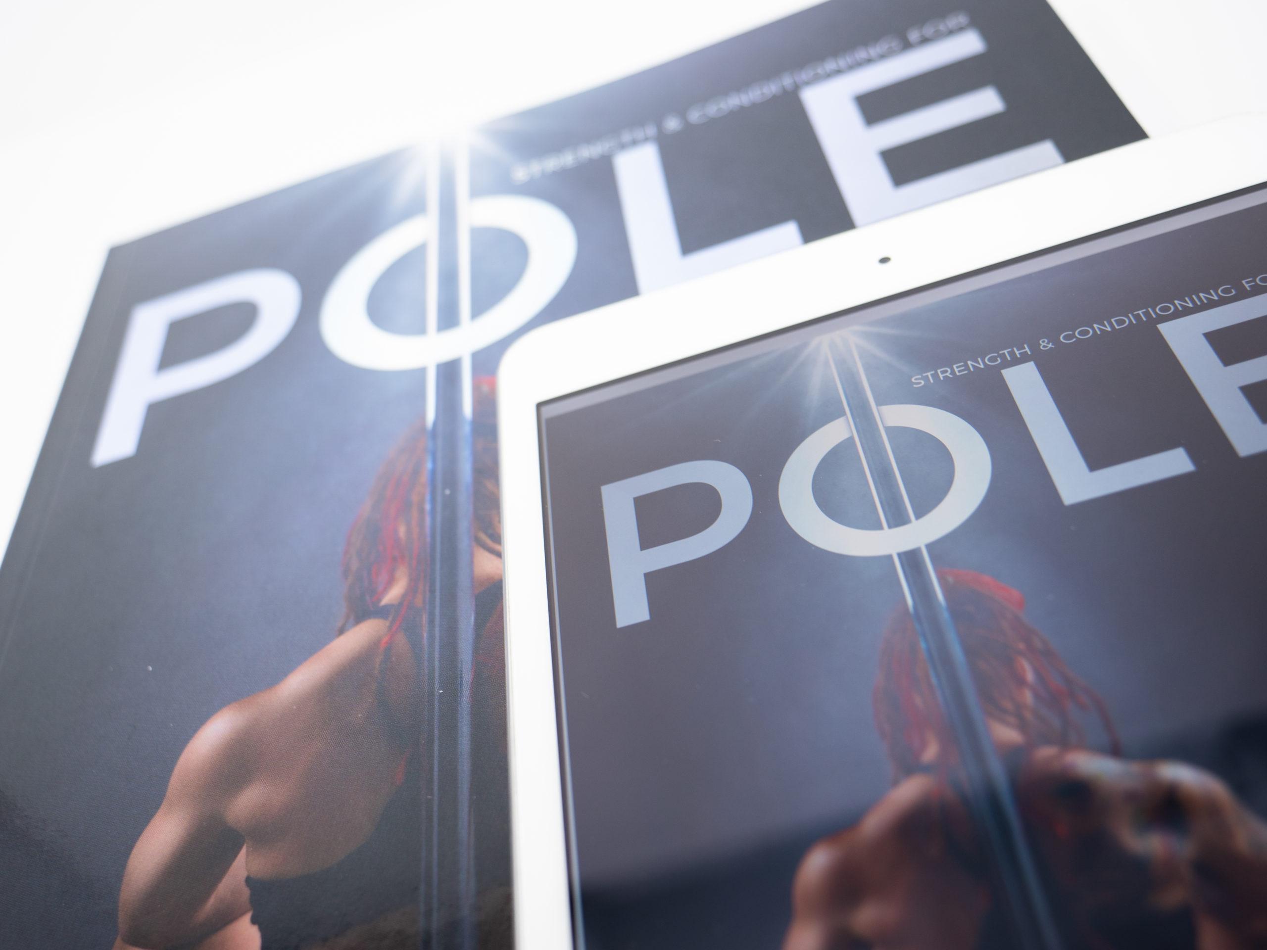 Close up pole book and ebook