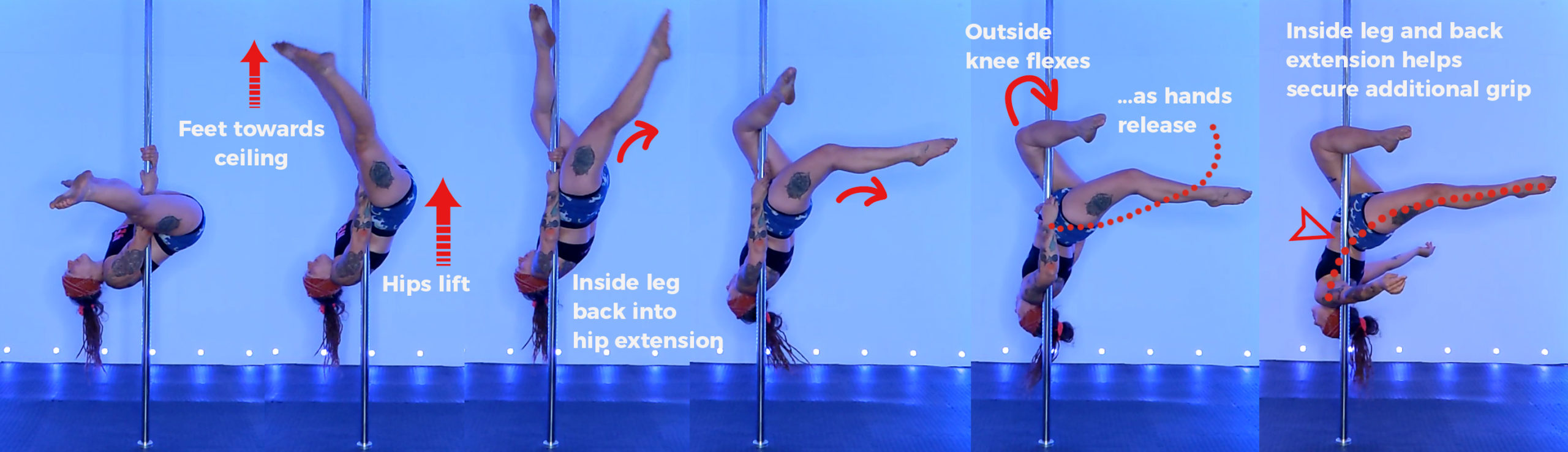 Pole invert secrets… Halp! My hands are in the way of my leg hang!