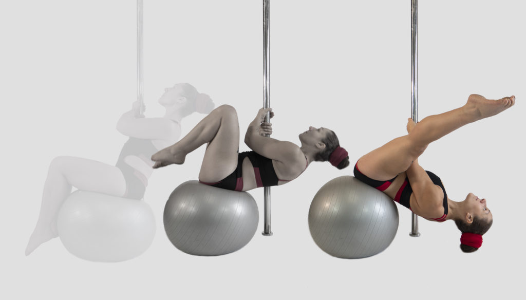 Stability ball training for pole