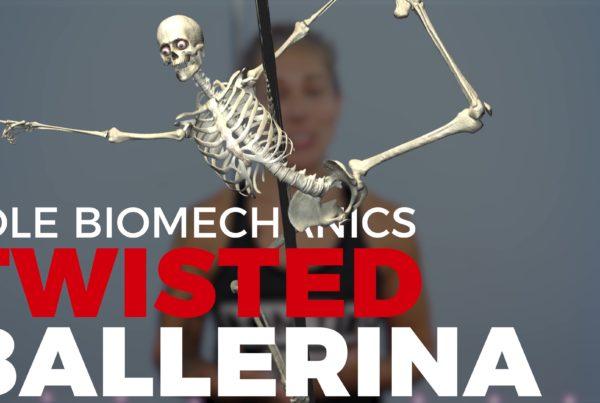 Twisted ballerina pole biomechanics