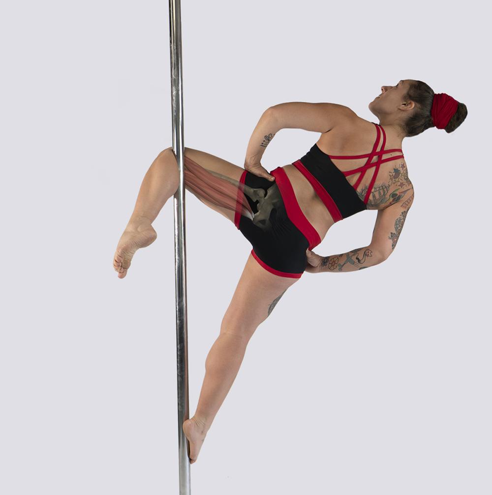 Hamstring prehab for pole dance